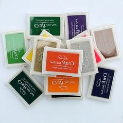 Stamp Ink Pad Water-Soluble Pad for Rubber Stamp DIY Craft P
