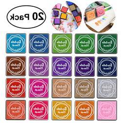 20 Colors Gradient Color Ink Pad Stamp Inkpad Oil Based Fing