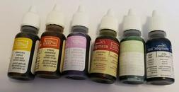 6 NEW INK unused Retired Stampin Up Classic Bottles INK pad