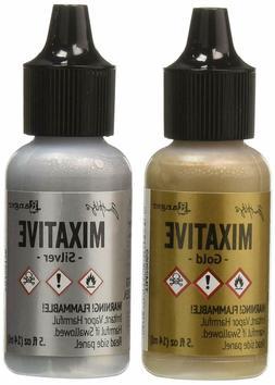 Adirondack Alcohol Ink Metallic Mixatives .5 Ounce 2/Pkg-Gol