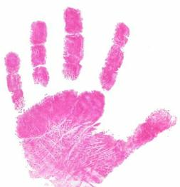 BABY SAFE Ink Pad Hand & Foot Prints Reuseable - PINK