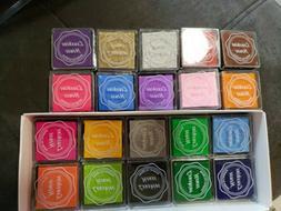 Lsushine Craft Ink Pad Stamps Partner Diy Color,20 Colors Ra