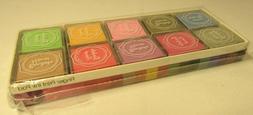 Lot 20 Color Finger Print Ink Pad Paint Rubber Stamp Set Art