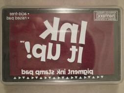 Ink It Up! Cranberry Ink Pad, Pigment Ink Stamp Pad, Acid-Fr