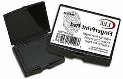 Lee Inkless Fingerprint Pad, 2 1/4 x 1 3/4, Black