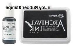 Ranger JET BLACK / COFFEE / PLUM Ink Pad / Refill Archival A