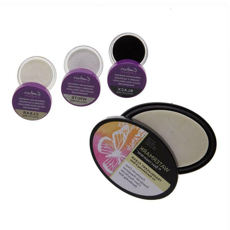 Crafter's Companion Embossing Powder and Ink Pad Kit NEW 617