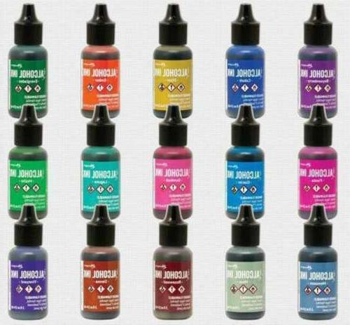 lot of ranger alcohol ink 15 colors