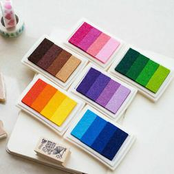 Rubber Stamps Craft Ink Pad Gradient Multicolour Pads Card M