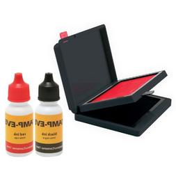 Stamp-Ever Two Color Pad/Refill Ink, Pads Measure 2-3/8 x 4